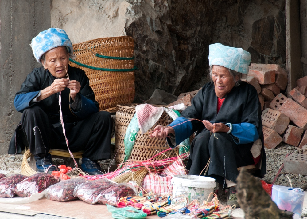 Two Old Women in Ping-An, Guangxi Province