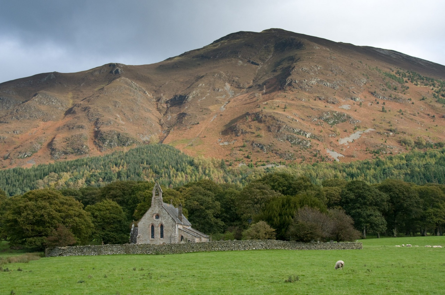 St Brega is an isolated small church overlooking Bassenthwaite in Cumbria